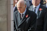 The Rt Hon Vince Cable MP (Leader of the Liberal Democrats) during the Remembrance Sunday Cenotaph Ceremony 2018 at Horse Guards Parade, Westminster, London, 11 November 2018, 11:09.
