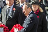 The Rt Hon Nigel Dodds OBE MP (Westminster Democratic Unionist Party Leader) during the Remembrance Sunday Cenotaph Ceremony 2018 at Horse Guards Parade, Westminster, London, 11 November 2018, 11:09.