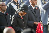 The Deputy High Commissioner of Barbados, the  Acting High Commissioner of Lesotho, and the  Acting High Commissioner of Lesotho during Remembrance Sunday Cenotaph Ceremony 2018 at Horse Guards Parade, Westminster, London, 11 November 2018, 11:13.