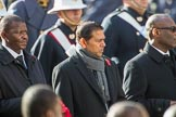The High Commissioner of Eswatini (the former Swaziland) and the  High Commissioner of Mauritius during Remembrance Sunday Cenotaph Ceremony 2018 at Horse Guards Parade, Westminster, London, 11 November 2018, 11:13.