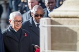 The High Commissioner of Malta, Joseph Cole and the  High Commissioner of Malawi, Mr Kena A. Mphonda, during Remembrance Sunday Cenotaph Ceremony 2018 at Horse Guards Parade, Westminster, London, 11 November 2018, 11:13.