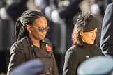 The High Commissioner of Guyana and the High Commissioner of Singapore, Ms Foo Chi Hsia, during Remembrance Sunday Cenotaph Ceremony 2018 at Horse Guards Parade, Westminster, London, 11 November 2018, 11:13.