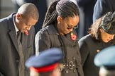 The Acting High Commissioner of Botswana, the  High Commissioner of Guyana, and the  High Commissioner of Singapore, Ms Foo Chi Hsia, during Remembrance Sunday Cenotaph Ceremony 2018 at Horse Guards Parade, Westminster, London, 11 November 2018, 11:13.