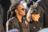 The High Commissioner of Guyana and the  High Commissioner of Singapore, Ms Foo Chi Hsia , during Remembrance Sunday Cenotaph Ceremony 2018 at Horse Guards Parade, Westminster, London, 11 November 2018, 11:13.