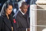 The High Commissioner of Tonga, Titilupe Fanetupouvava'u Tu'ivakano, and the  High Commissioner of Eswatini, during Remembrance Sunday Cenotaph Ceremony 2018 at Horse Guards Parade, Westminster, London, 11 November 2018, 11:14.