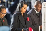 The Deputy High Commissioner of Bangladesh, Muhammad Zulqar Nain, the  High Commissioner of Tonga, Titilupe Fanetupouvava'u Tu'ivakano, and the  High Commissioner of Eswatini during Remembrance Sunday Cenotaph Ceremony 2018 at Horse Guards Parade, Westminster, London, 11 November 2018, 11:14.