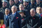 Representatives of the government, and the streetliners, here the Royal Navy, singing during the Remembrance Sunday Cenotaph Ceremony 2018 at Horse Guards Parade, Westminster, London, 11 November 2018, 11:22.