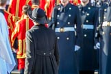 The Prime Minister returning to the Foreign and Commonwealth Office during Remembrance Sunday Cenotaph Ceremony 2018 at Horse Guards Parade, Westminster, London, 11 November 2018, 11:24.