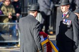 during Remembrance Sunday Cenotaph Ceremony 2018 at Horse Guards Parade, Westminster, London, 11 November 2018, 11:27.