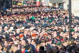 Veterans waiting for the March Past during the Remembrance Sunday Cenotaph Ceremony 2018 at Horse Guards Parade, Westminster, London, 11 November 2018, 11:36.