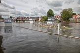 Henley Royal Regatta 2012 (Monday): The London Rowing Club (LRC) Eight during their training, about to cross the finish line..     on 25 June 2012 at 11:10, image #5