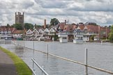 Henley Royal Regatta 2012 (Monday): Picture-postcard view of Henley-on-Thames, with the 16th century @''@St Mary@''@ church.. River Thames beteen Henley-on-Thames and Remenham/Temple Island , Henley-on-Thames, Oxfordshire, United Kingdom, on 25 June 2012 at 11:18, image #10