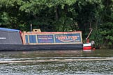 Henley Royal Regatta 2012 (Monday): Narrowboat 'Albert', a splendid old working boat, moored on the River Thames..     on 25 June 2012 at 12:00, image #14