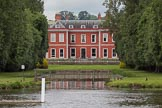 Henley Royal Regatta 2012 (Monday): Fawley Court, designed by Christopher Wren, with gardens landscaped by Lancelot 'Capability' Brown.. River Thames beteen Henley-on-Thames and Remenham/Temple Island , Henley-on-Thames, Oxfordshire, United Kingdom, on 25 June 2012 at 12:06, image #15