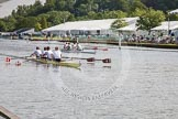 Henley Royal Regatta 2012 (Thursday): Race 8, Visitors' Challenge Cup:  Amsterdam Studenten Roeivereeniging Nereus, Holland  (193, Bucks) v Cambridge University and Leander Club  (194, Berks). River Thames beteen Henley-on-Thames and Remenham/Temple Island , Henley-on-Thames, Oxfordshire, United Kingdom, on 28 June 2012 at 09:46, image #39