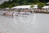 Henley Royal Regatta 2012 (Thursday): Race 21, Princess Elizabeth Challenge Cup:  Belmont Hill School, U.S.A. (126, Bucks) v Canford School  (130, Berks). River Thames beteen Henley-on-Thames and Remenham/Temple Island , Henley-on-Thames, Oxfordshire, United Kingdom, on 28 June 2012 at 11:05, image #143