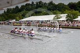 Henley Royal Regatta 2012 (Thursday): Race 21, Princess Elizabeth Challenge Cup:  Belmont Hill School, U.S.A. (126, Bucks) v Canford School  (130, Berks). River Thames beteen Henley-on-Thames and Remenham/Temple Island , Henley-on-Thames, Oxfordshire, United Kingdom, on 28 June 2012 at 11:05, image #144