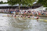 Henley Royal Regatta 2012 (Thursday): Race 32, Princess Elizabeth Challenge Cup:  Hampton School (137, Bucks) v Groton School, U.S.A.  (136, Berks). River Thames beteen Henley-on-Thames and Remenham/Temple Island , Henley-on-Thames, Oxfordshire, United Kingdom, on 28 June 2012 at 12:10, image #229