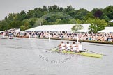 Henley Royal Regatta 2012 (Thursday): Race 44, Prince of Wales Challenge Cup:  Leander Club (276, Bucks) v Upper Thames Rowing Club 'B' (288, Berks). River Thames beteen Henley-on-Thames and Remenham/Temple Island , Henley-on-Thames, Oxfordshire, United Kingdom, on 28 June 2012 at 14:51, image #317