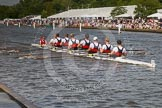 Henley Royal Regatta 2012 (Thursday): Race 57, Princess Elizabeth Challenge Cup:  Ridley College, Canada (149, Bucks) v Shrewsbury School (157, Berks). River Thames beteen Henley-on-Thames and Remenham/Temple Island , Henley-on-Thames, Oxfordshire, United Kingdom, on 28 June 2012 at 16:11, image #416