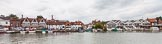 Henley Royal Regatta 2013 (Monday): Henley-on-Thames seen across the river from the HRR boat tents.. River Thames between Henley and Temple Island, Henley-on-Thames, Berkshire, United Kingdom, on 01 July 2013 at 13:56, image #1