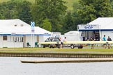 Henley Royal Regatta 2013 (Monday): The HRR crew area at the boat tents, seen from the eastern side of the Thames.. River Thames between Henley and Temple Island, Henley-on-Thames, Berkshire, United Kingdom, on 01 July 2013 at 14:13, image #9