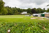 Henley Royal Regatta 2013 (Monday): Preparations for the regatta - tents on the eastern side of the Thames.. River Thames between Henley and Temple Island, Henley-on-Thames, Berkshire, United Kingdom, on 01 July 2013 at 14:35, image #13