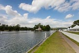 Henley Royal Regatta 2013 (Monday): Temple Island, and hospitality tents on the eastern side of the Thames.. River Thames between Henley and Temple Island, Henley-on-Thames, Berkshire, United Kingdom, on 01 July 2013 at 15:18, image #36