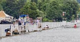 Henley Royal Regatta 2013 (Wednesday): In the middle of the river close to the finish line of the Henley Royal Regatta - the photo box next to the progress board.. River Thames between Henley and Temple Island, Henley-on-Thames, Berkshire, United Kingdom, on 03 July 2013 at 09:36, image #14