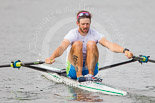 Henley Royal Regatta 2013, Saturday: Luka Špik, a Slovenian rower and Olympic gold medalist, during a training session in the morning. Image #29, 06 July 2013 08:58 River Thames, Henley on Thames, UK