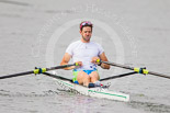 Henley Royal Regatta 2013, Saturday: Luka Špik, a Slovenian rower and Olympic gold medalist, during a training session in the morning. Image #30, 06 July 2013 08:58 River Thames, Henley on Thames, UK