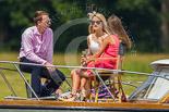 "Henley Royal Regatta 2013, Saturday: Pleasure boat ""Yacoba"" passing the Henley Royal Regatta race course. Image #273, 06 July 2013 12:08 River Thames, Henley on Thames, UK"