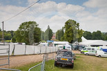 Henley Royal Regatta 2013, Saturday: Tents and car parks at Remenham Farm, just opposite Fawley Court. Image #298, 06 July 2013 12:40 River Thames, Henley on Thames, UK