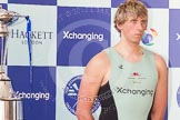 The Boat Race season 2012 - Crew Announcement and Weigh In: Cambridge: Stroke Niles Garratt, American, 92.2kg.. Forman's Fish Island, London E3,  United Kingdom, on 05 March 2012 at 10:19, image #31