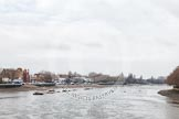 The Boat Race season 2012 - fixture CUBC vs Leander: The River Thames seen from Putney Bridge looking upstream towards the West.. River Thames between Putney and Molesey, London, Greater London, United Kingdom, on 10 March 2012 at 12:09, image #3