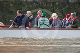 The Boat Race season 2012 - fixture CUBC vs Leander: Cambridge alumni watching the race.. River Thames between Putney and Molesey, London, Greater London, United Kingdom, on 10 March 2012 at 14:09, image #84