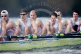 The Boat Race season 2012 - fixture CUBC vs Leander: The Leander Club Eight: Sean Dixon, Tom Clark, John Clay, Will Gray, Sam Whittaker, and bow Oliver Holt.. River Thames between Putney and Molesey, London, Greater London, United Kingdom, on 10 March 2012 at 14:16, image #121