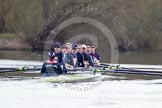 The Boat Race season 2012 - OUBC training: Cox Zoe de Toledo, stroke Roel Haen, 7 Dan Harvey, 6 Dr. Hanno Wienhausen, 5 Karl Hudspith, 4 Alexander Davidson, 3 Kevin Baum, 2 William Zeng, and bow Dr. Alexander Woods..   Oxfordshire, United Kingdom, on 20 March 2012 at 15:09, image #23