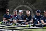The Boat Race season 2012 - OUBC training: Bow Dr. Alexander Woods, 2 William Zeng, 3 Kevin Baum, 4 Alexander Davidson, 5 Karl Hudspith, and 6 Dr. Hanno Wienhausen..   Oxfordshire, United Kingdom, on 20 March 2012 at 15:14, image #26