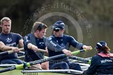 The Boat Race season 2012 - OUBC training: 6 Dr. Hanno Wienhausen, 7 Dan Harvey, stroke Roel Haen, and cox Zoe de Toledo..   Oxfordshire, United Kingdom, on 20 March 2012 at 15:15, image #27