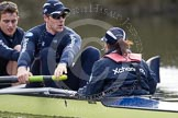 The Boat Race season 2012 - OUBC training: 7 seat Dan Harvey, stroke Roel Haen, and cox Zoe de Toledo..   Oxfordshire, United Kingdom, on 20 March 2012 at 15:16, image #29