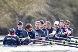 The Boat Race season 2012 - OUBC training: Cox Zoe de Toledo, stroke Roel Haen, 7 Dan Harvey, 6 Dr. Hanno Wienhausen, 5 Karl Hudspith, 4 Alexander Davidson, 3 Kevin Baum, 2 William Zeng, and bow Dr. Alexander Woods..   Oxfordshire, United Kingdom, on 20 March 2012 at 15:24, image #38