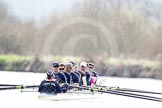 The Boat Race season 2012 - OUBC training: Cox Zoe de Toledo, stroke Roel Haen, 7 Dan Harvey, 6 Dr. Hanno Wienhausen, 5 Karl Hudspith, 4 Alexander Davidson, 3 Kevin Baum, 2 William Zeng, and bow Dr. Alexander Woods..   Oxfordshire, United Kingdom, on 20 March 2012 at 15:24, image #39