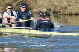 The Boat Race season 2012 - OUBC training: 7 seat Dan Harvey, stroke Roel Haen, and cox Zoe de Toledo..   Oxfordshire, United Kingdom, on 20 March 2012 at 16:05, image #89