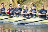 The Boat Race season 2012 - OUBC training: Bow Dr. Alexander Woods, 2 William Zeng, 3 Kevin Baum, 4 Alexander Davidson, 5 Karl Hudspith, and 6 Dr. Hanno Wienhausen..   Oxfordshire, United Kingdom, on 20 March 2012 at 16:05, image #90