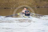 The Boat Race season 2012 - OUBC training: Bow Dr. Alexander Woods, 2 William Zeng, 3 Kevin Baum, 4 Alexander Davidson, 5 Karl Hudspith, 6 Dr. Hanno Wienhausen, 7 Dan Harvey, stroke Roel Haen, and cox Zoe de Toledo..   Oxfordshire, United Kingdom, on 20 March 2012 at 16:20, image #102