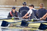 The Boat Race season 2012 - OUBC training: Cox Zoe de Toledo, stroke Roel Haen, 7 Dan Harvey, and 6 Dr. Hanno Wienhausen..   Oxfordshire, United Kingdom, on 20 March 2012 at 16:47, image #110