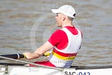 The Boat Race season 2012 - fixture OUBC vs Leander: Tideway Scullers unnamed bowman..     on 24 March 2012 at 13:34, image #19