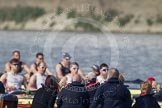 The Boat Race season 2012 - fixture OUBC vs Leander: Officials watching the OUBC Blue Boat v Leander fixture..     on 24 March 2012 at 14:30, image #123