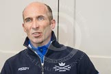 Oxford University Boat Club chief coach Sean Bowden during the press conference on April 5, 2012, at the BT Press Centre, two days before the 2012 Boat Race.